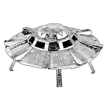 3D Puzzles Jigsaw Puzzle Metal Puzzles Model Building Kits Toys Spacecraft 3D DIY Stainless Steel Chrome Metal Not Specified Pieces