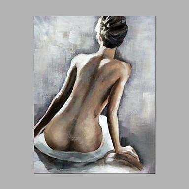 Hang-Painted öljymaalaus Maalattu - Nude Matta Taiteellinen Kangas