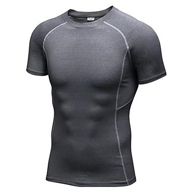 Homens Camiseta de Corrida Manga Curta Fitness, Corrida e Yoga Secagem Rápida Esportes Camiseta Pulôver Blusas para Exercício e Atividade