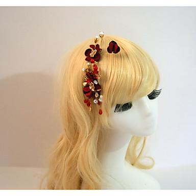 abordables Coiffes-Résine Coton Peignes Fleurs Bâton de cheveux 1 Mariage Occasion spéciale Fête / Soirée Casque