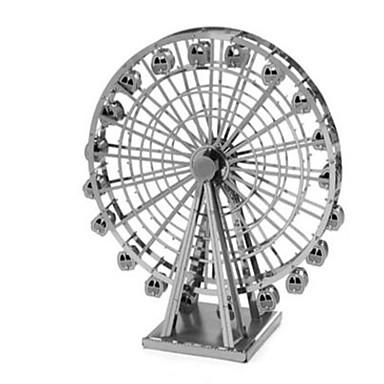 3D Puzzles Jigsaw Puzzle Metal Puzzles Model Building Kits Toys Circular 3D DIY Aluminium Metal Not Specified Pieces