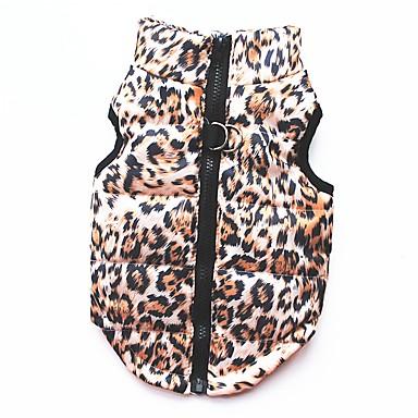 Cat Dog Coat Shirt / T-Shirt Sweatshirt Vest Dog Clothes Leopard Leopard Cotton Costume For Pets Women's Party Casual/Daily Keep Warm