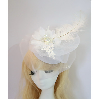 Gemstone & Crystal / Tulle / Resin Fascinators / Hats / Headpiece with Crystal / Feather 1 Wedding / Special Occasion / Halloween Headpiece