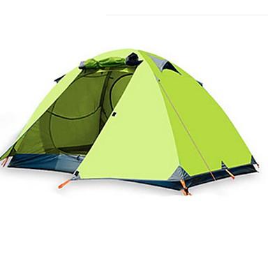 BSwolf 2 personer Telt Dobbelt camping Tent Ett Rom Brette Telt Vanntett Regn-sikker Støvtett Sammenleggbar til Camping & Fjellvandring