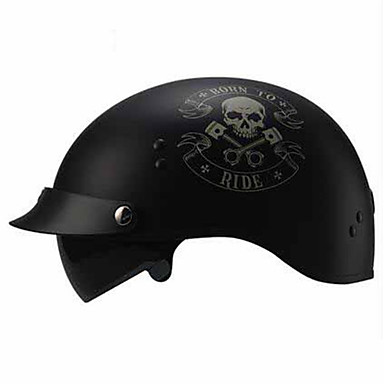 TORC  V535 Motorcycle Helmet New Scooter Helmet Electric Car Half-Fold Retro Personality Fashion Ya Black BORN RIDE Version