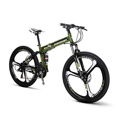 Folding Bikes 산악 자전거 Pyöräily 21 Nopeus 26 tuumaa/700CC Shimono Tuplalevyjarru Etujousihaarukka Taiteltava Ilmajousitus Tavallinen