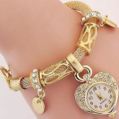 baratos Relógios Homem-Mulheres Relógio de Moda Bracele Relógio Relógio de Pulso Digital Metal Prata / Dourada Analógico Prata Dourado
