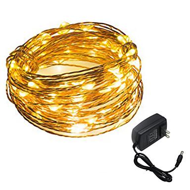 HKV 5m Cordões de Luzes 50 LEDs SMD 0603 Branco Quente / Branco 12 V / IP65