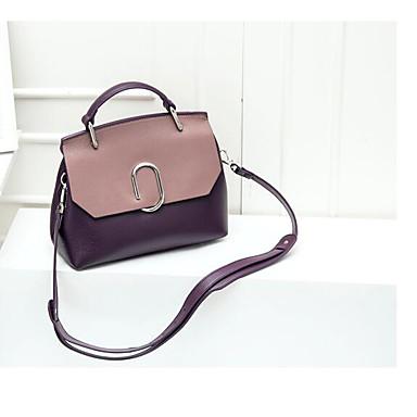 Women Shoulder Bag Cowhide All Seasons Casual Outdoor Square Zipper Green Purple Brown