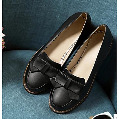 Women's Shoes Nubuck leather PU Summer Comfort Loafers & Slip-Ons With For Casual Black Beige Blue Blushing Pink