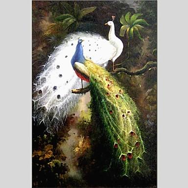 Hang-Painted öljymaalaus Maalattu - Eläimet Abstrakti Pastoraali Realismi Kangas