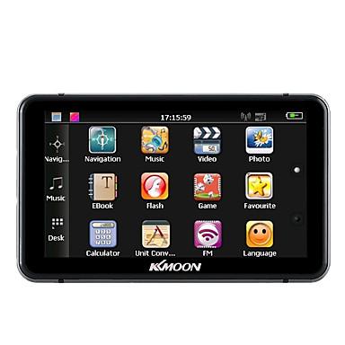 Kkmoon 7 hd touch screen portátil gps navegador 128 MB ram 4gb rom fm mp3 video play carro sistema de entretenimento com caneta manuscrita