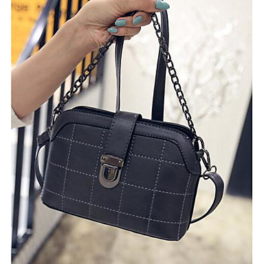 Women Shoulder Bag PU All Seasons Casual Outdoor Square Clasp Lock Blue Black Wine