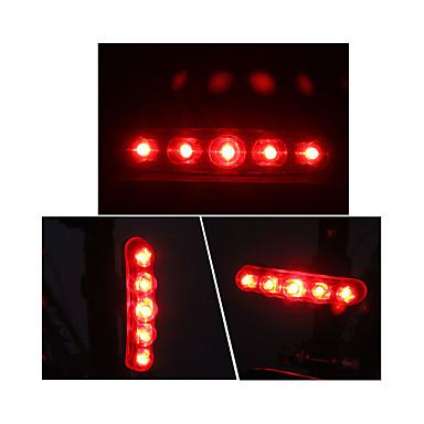 Rear Bike Light / Safety Light / Tail Light Bike Light LED Cycling Outdoor AAA Battery Red Cycling / Bike