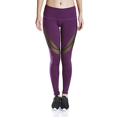 Mulheres Calças de Corrida Fitness, Corrida e Yoga Pavio Humido Secagem Rápida Compressão Meia-calça Calças Ioga Exercício e Atividade