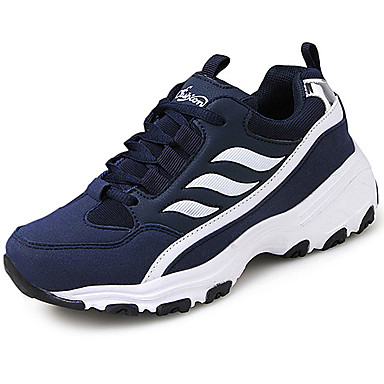 Women's Shoes PU Spring Summer Comfort Athletic Shoes Low Heel for Casual Black Gray Red Blue