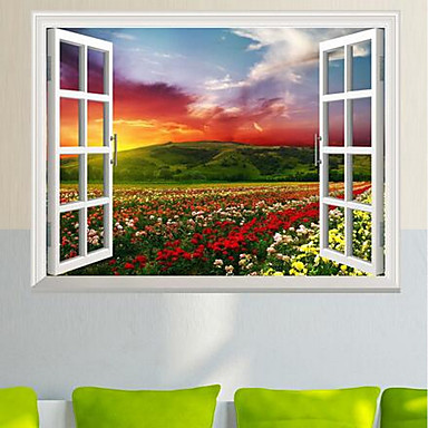 Landscape Wall Stickers 3D Wall Stickers Decorative Wall Stickers, Plastic Home Decoration Wall Decal Wall