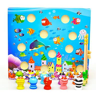 Brinquedos de pesca Quadrada Pato Peixes 3D Magnética Crianças Brinquedos Dom