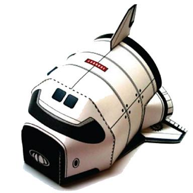 Quebra-Cabeças 3D Maquetes de Papel Artesanato de Papel Brinquedos de Montar Quadrada Aeronave Navio Faça Você Mesmo Cartão de Papel Duro