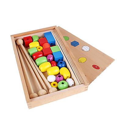 Ferramentas de Ensino Montessori Blocos de Construir Brinquedo Educativo Quadrada Educação Crianças Brinquedos Dom