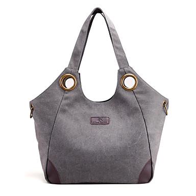Women Bags Canvas Shoulder Bag for Casual All Seasons Black Beige Gray Purple Coffee