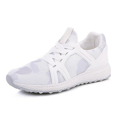 Women's Shoes Breathable Mesh Summer Comfort Sneakers For Casual White Gray