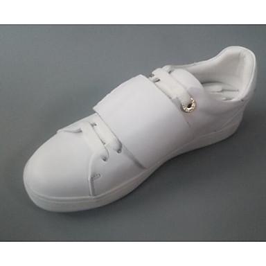 Dame Sko Lær Vår Sommer Komfort Flate sko Til Avslappet Hvit