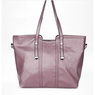 Women Bags All Seasons PU Shoulder Bag for Casual Outdoor Red Blushing Pink