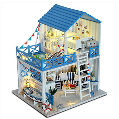 Dollhouse Toy Kitchen Sets Pretend Play Girl Doll Model Building Kit Doll Toys DIY House Plastics Classic Pieces Unisex Birthday Gift