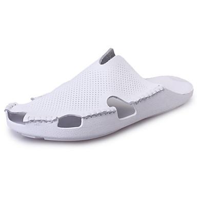 Women's Shoes Rubber Summer Comfort Sandals Walking Shoes Flat Heel Black / Red / Pink
