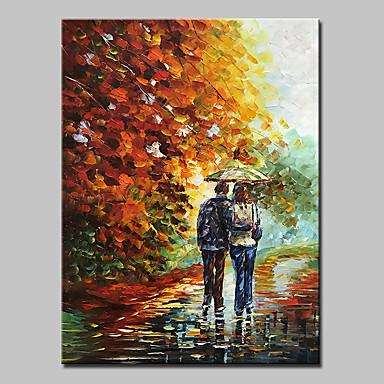 Pintados à mão Paisagem Vertical, Abstracto Modern Tela de pintura Pintura a Óleo Decoração para casa 1 Painel
