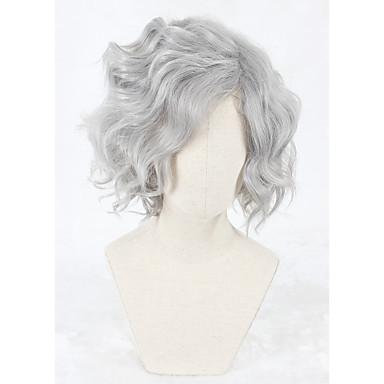Syntetisk hår Parykker Lokkløs Cosplay-parykk Kort Grå
