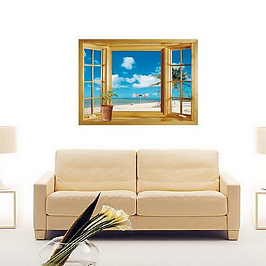 Decorative Wall Stickers - Plane Wall Stickers Landscape Living Room / Bedroom / Dining Room