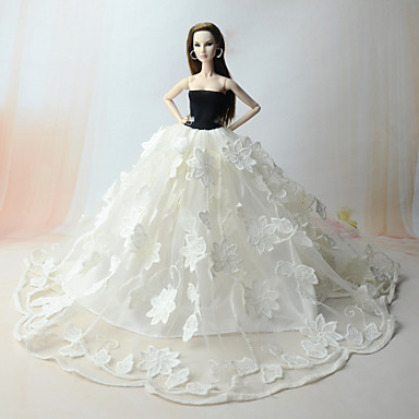 Dresses Dress For Barbie Doll Organza Polyester Jacquard Dress For Girl's Doll Toy
