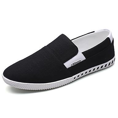 Miesten kengät PU Kevät Syksy Comfort Mokkasiinit varten ulko- Musta Vihreä Sininen