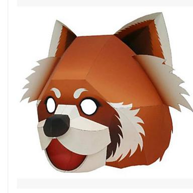 Halloween-maskit Eläinnaamari Paperityöt Lelut Eläimet DIY Neliö Karhu 3D Kova kartonki Ruoka ja juoma Klassinen Pieces Unisex Lahja
