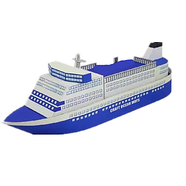 Quebra-Cabeças 3D Maquetes de Papel Artesanato de Papel Brinquedos de Montar Quadrada Navio 3D Simulação Faça Você Mesmo Cartão de Papel