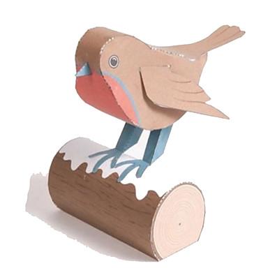Quebra-Cabeças 3D Maquetes de Papel Artesanato de Papel Brinquedos de Montar Quadrada Pássaro 3D Animais Simulação Faça Você Mesmo