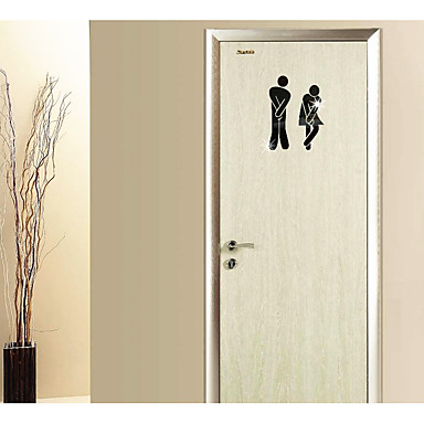 Decorative Wall Stickers - Mirror Wall Stickers Abstract / 3D Bathroom