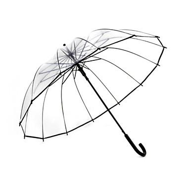 Plástico Homens / Mulheres / Para Meninos Ensolarado e chuvoso Guarda-Chuva Longo