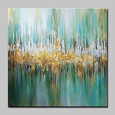 Pintados à mão Abstrato Quadrada, Abstracto Modern Tela de pintura Pintura a Óleo Decoração para casa 1 Painel