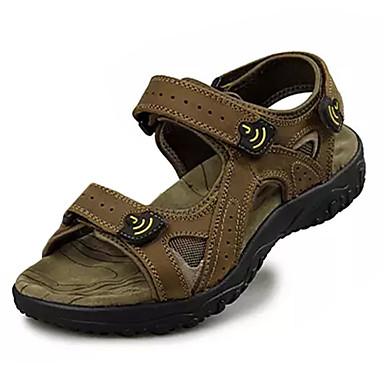 Miesten kengät PU Kesä Comfort Sandaalit Solmittavat varten Urheilullinen ulko- Vihreä Vaalean ruskea Tumman ruskea