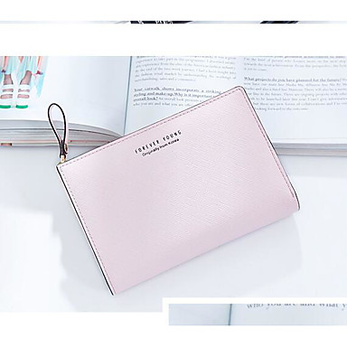 Women Coin Purse PU Polyester All Seasons Casual Outdoor Square Zipper Black Blushing Pink Light Blue