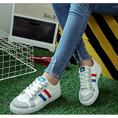 Damen Schuhe PU Sommer Komfort Sneakers Für Normal Weiß Schwarz Gelb