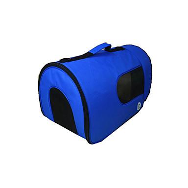 Gato Cachorro Tranportadoras e Malas Animais de Estimação Transportadores Portátil Respirável Sólido Azul Azul Claro