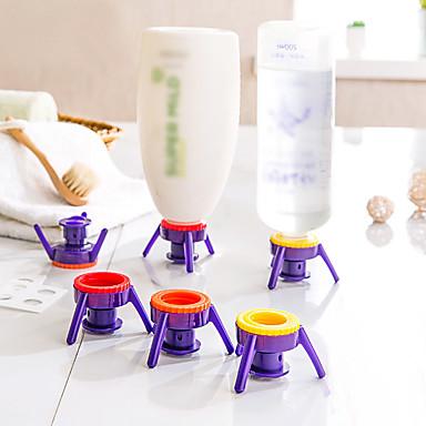 Deluxe-cap-Kit es Shampoo Conditioner Lotion Sirup Gewürze Flaschenverschluss Flip, 6 Stück (gelegentliche Farbe)