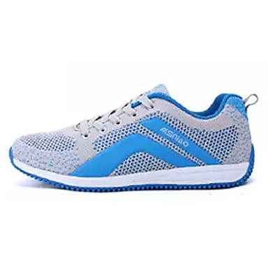 Mulheres Sapatos Couro Ecológico Primavera Outono Conforto Tênis Caminhada Sem Salto Ponta Redonda Cadarço para Casual Azul Escuro Fúcsia