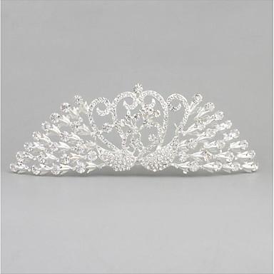 Crystal Alloy Tiaras Hair Combs Headpiece Classical Feminine Style