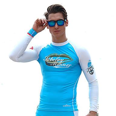 SABOLAY Men's Diving Rash Guard Boating, Fast Dry, Ultraviolet Resistant Tactel / Elastane / Terylene Long Sleeve Swimwear Beach Wear Top Other Swimming