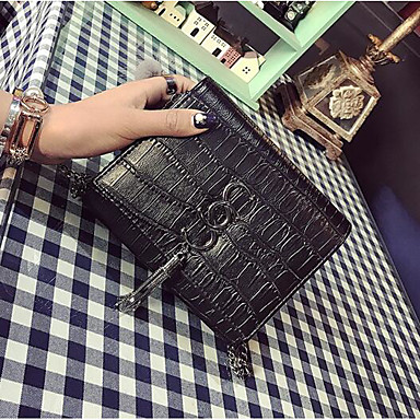 Women Bags All Seasons PU Polyester Shoulder Bag for Casual Outdoor Black Beige